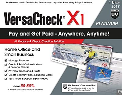 VersaCheck X1 Platinum UV Secure 2017 Check Printing Software [Download]