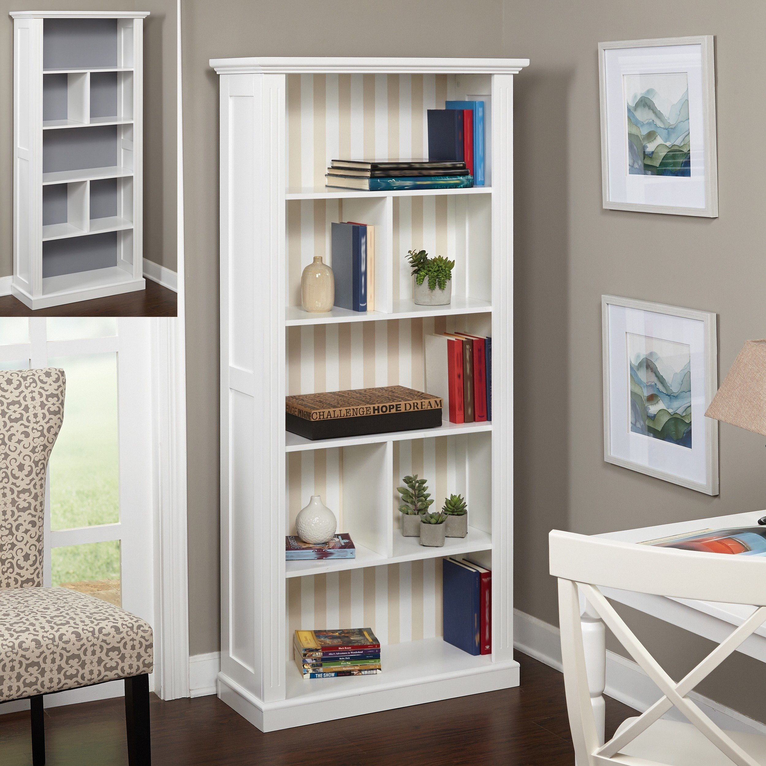 Simple Living Holland Bookcase with Reversible Back Panel by Simple Living Products