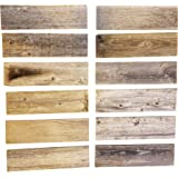 "Rustic Weathered Reclaimed Wood Planks for DIY Crafts, Projects and Decor (12 Planks - 12"" Long)"