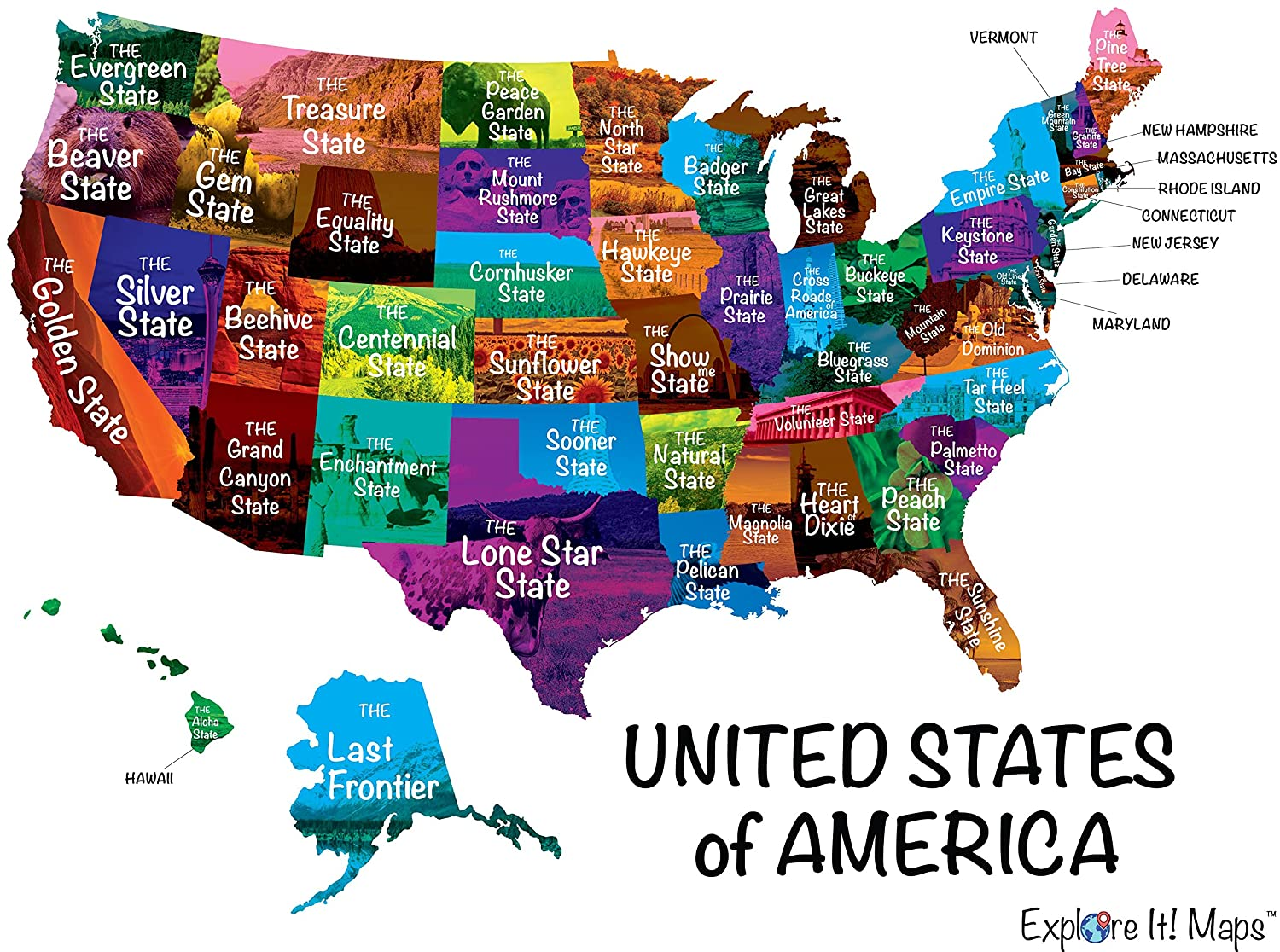 Amazon.com: Explore It MapsTM Scratch Off Map of US (USA) for ...