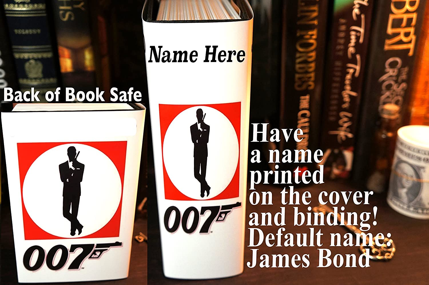 Amazon.com: James Bond Hollow Book Safe Stash Box Gifts for Boyfriend Gift  Groomsmen Gift Box Brother Gift Stoner Gifts Mens Personalized Mens Gift  Book Box ...