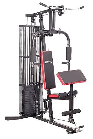 SportPlus Multiestación de Musculación para el Hogar, Entrenamiento Funcional con Pesas para Todo el Cuerpo con ...