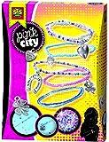 Ses - 14322 - Kit De Loisirs Créatifs - Bracelets En Perles Et Charms Pink City