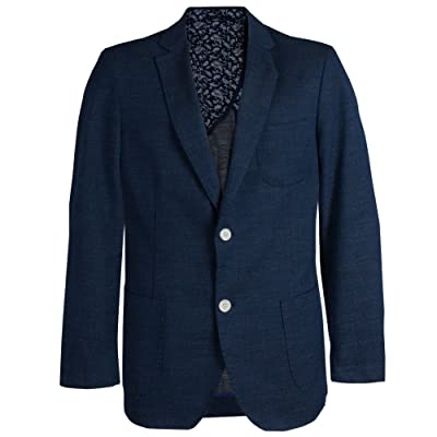 JAMES TATTERSALL Men's Textured 2 Button Blazer With Side Vents