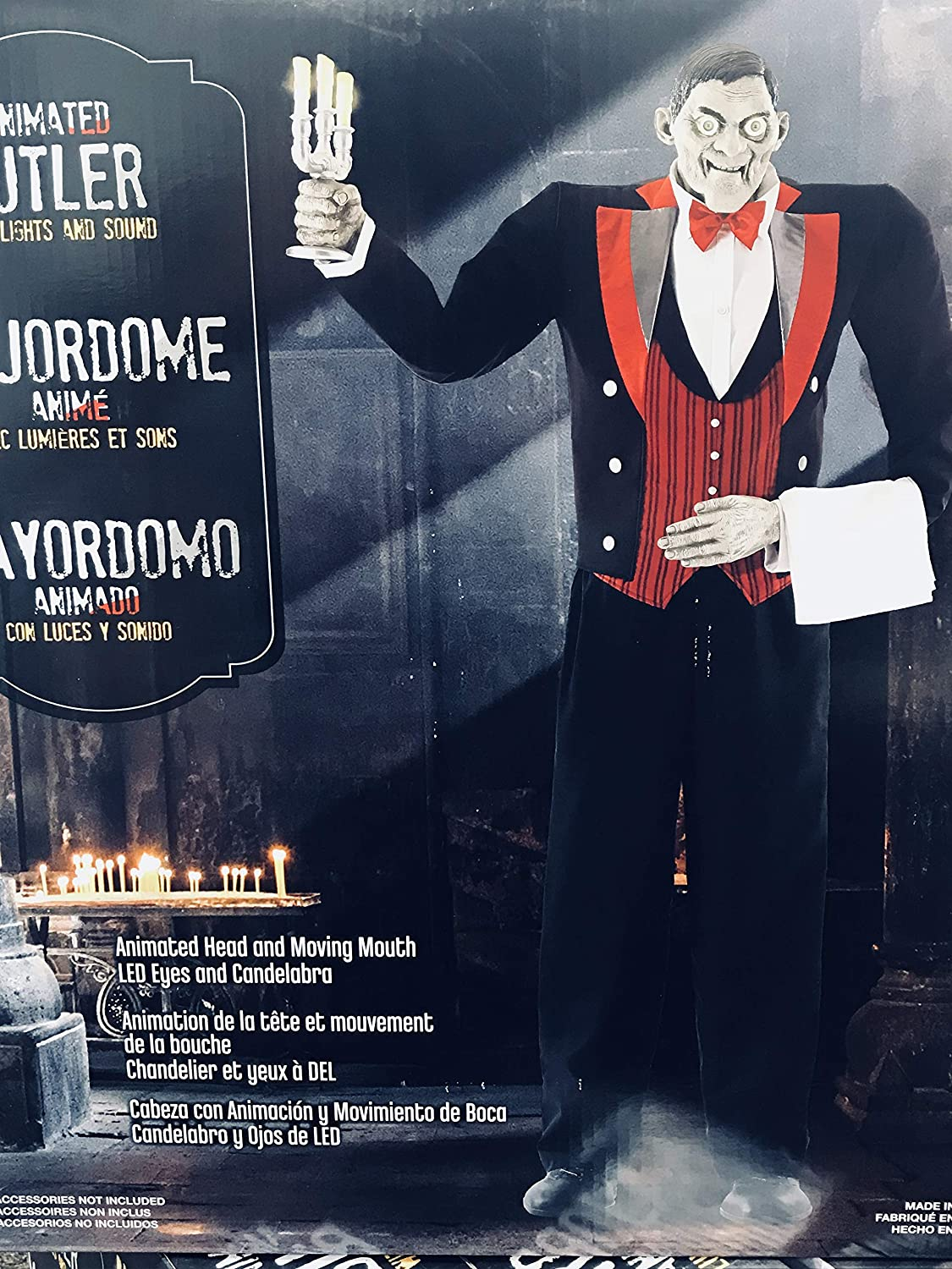 Amazon.com: Halloween -Animated Butler of Macabre Manor 6ft 11