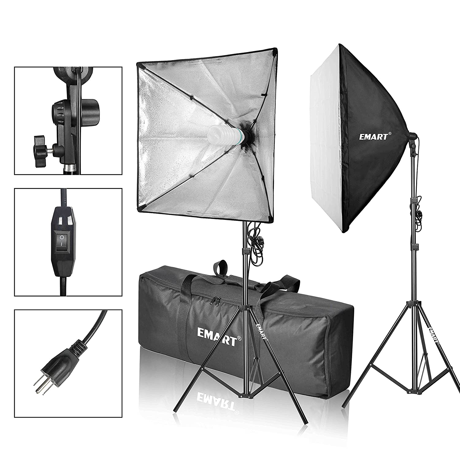 Emart Photography Softbox Lighting Kit, Photo Equipment Studio Softbox 20' x 27', 45W Dimmable LED with Double Color Temperature for Portrait Video and Shooting Photo Equipment Studio Softbox 20 x 27 Emartinc 4331906965