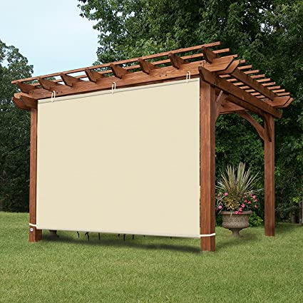 Easy2Hang EZ2hang Waterproof Outdoor Blinds Adjustable Hanging Panel For  Pergola/Porch/Patio 6x6ft Tan