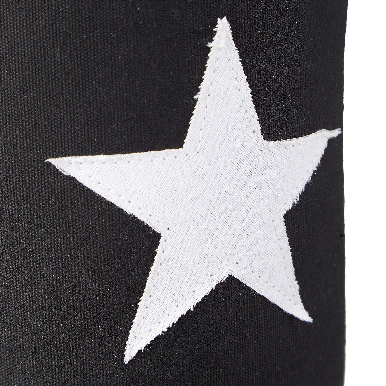 1 St/ück extra hoch T/ürpuffer Stoff Metall Baumwolle grau T/ürsack Boden dekorativ Relaxdays T/ürstopper Stern Sand mit Griff HxD: 23 x 11 cm