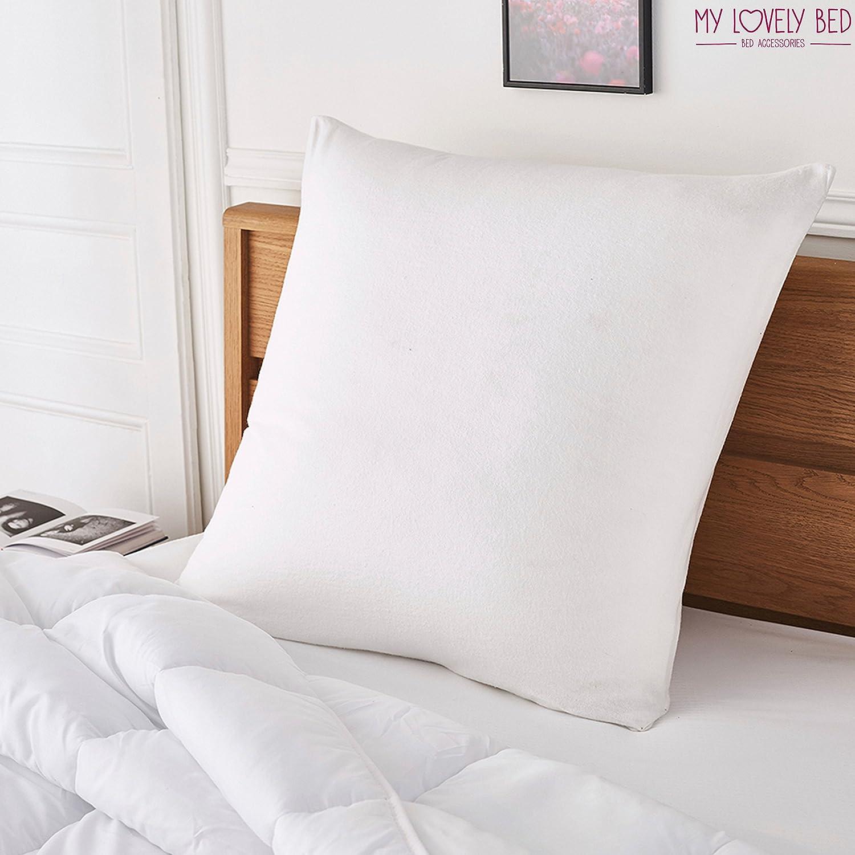 50x70 cm white 100/% Cotton Fleece MyLovelyBed Anti-Dust Mite Pillow Protector