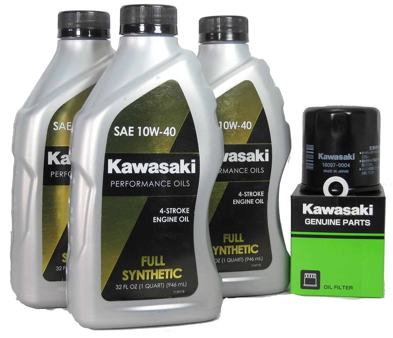 2013 Kawsaki NINJA 300 Full Synthetic Oil Change Kit Kawasaki 4333317198