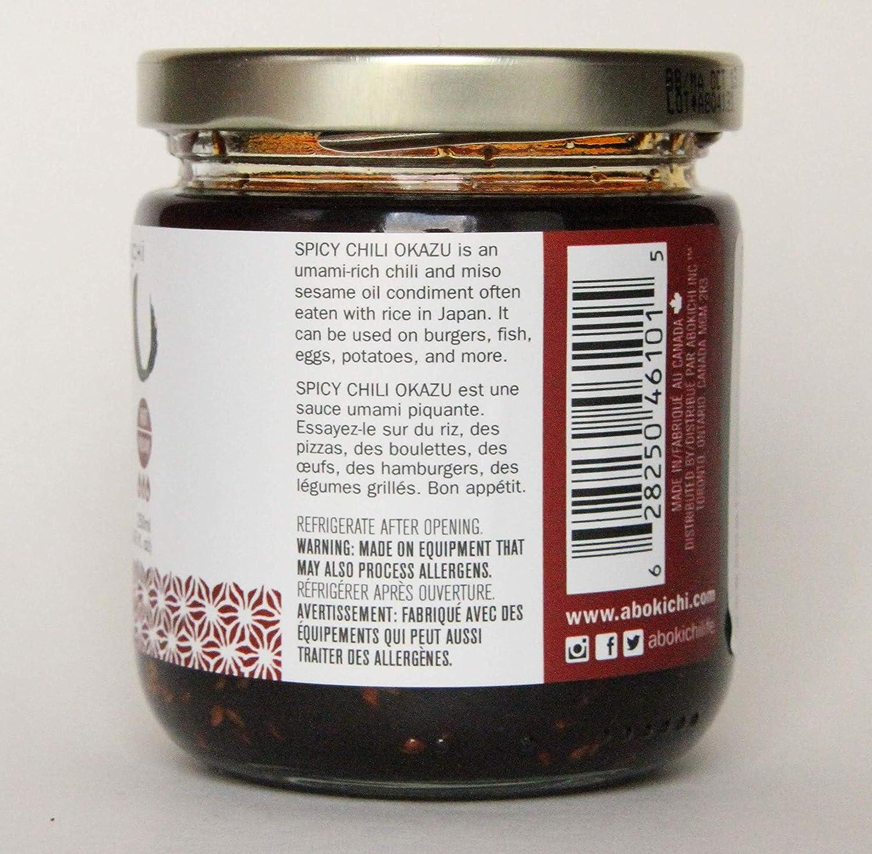 Amazon.com : Premium Japanese Miso Chili Oil - Savoury, Umami-Rich Condiment Handcrafted in Canada by Abokichi - All Natural, Vegan, Non-GMO, Gluten Free, ...