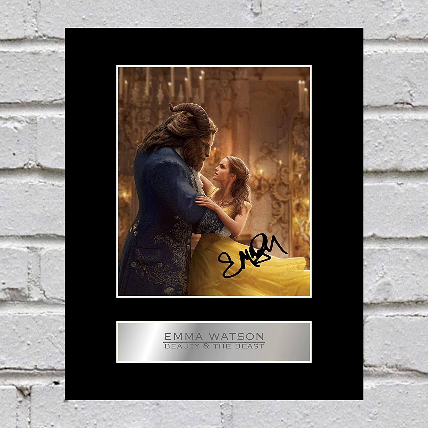 Emma Watson Signed Mounted Photo Display Beauty and the Beast Iconic pics