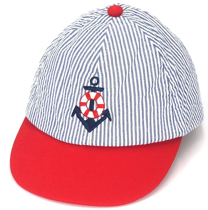 981ed8acbd3 TotMore Unisex Baby Toddler Soft Blue Stripes Baseball Cap Sun Hat Snapback  Hat Visor