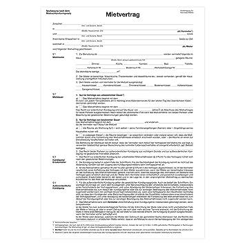 Herlitz Mietvertrag A4 Für Wohnräume 1 Stück Amazonde Bürobedarf