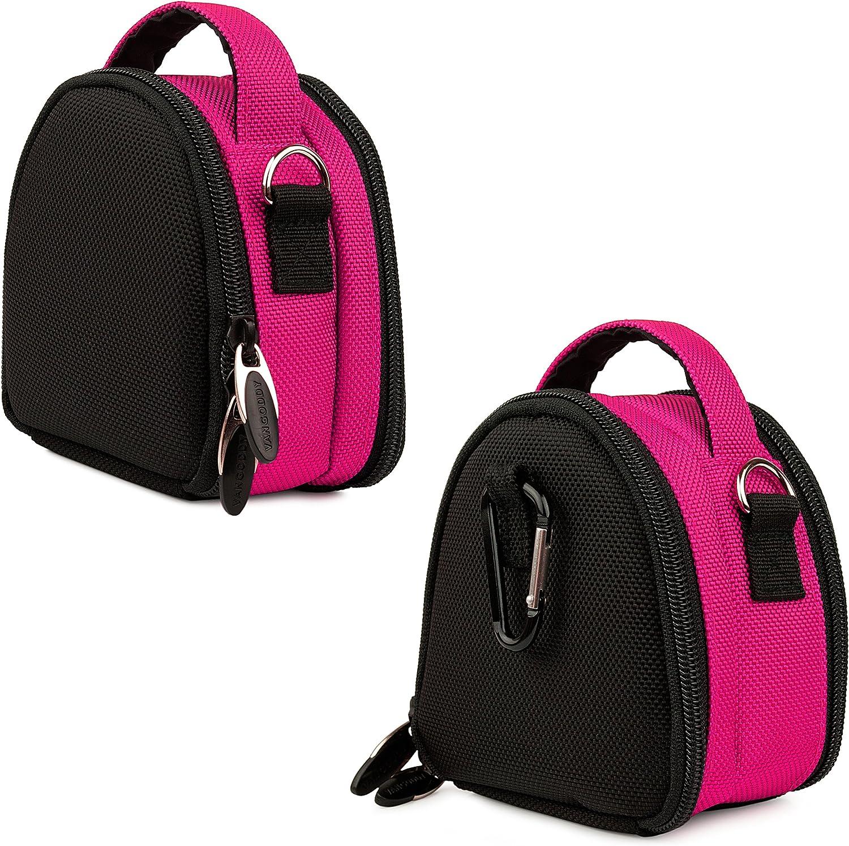 for Kodak EasyShare M530 M590 M5370 Digital Camera and Screen Protector and Mini Tripod Mini Travel Shoulder Bag Carrying Case Pink