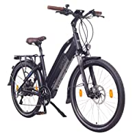 "NCM Milano Plus 48V 26"" / 28"" Zoll Damen & Herren Urban E-Bike, 250W Das-Kit Heckmotor, 16Ah 768Wh Panasonic Li-Ion Zellen Akku, hydraulische Scheibenbremsen, 8 Gang Shimano Schaltung"