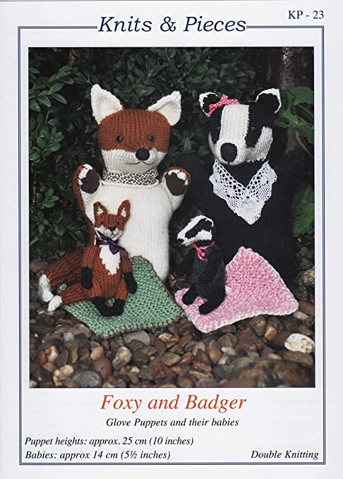Foxy and Badger Knits and Pieces Double Knitting Patterns.