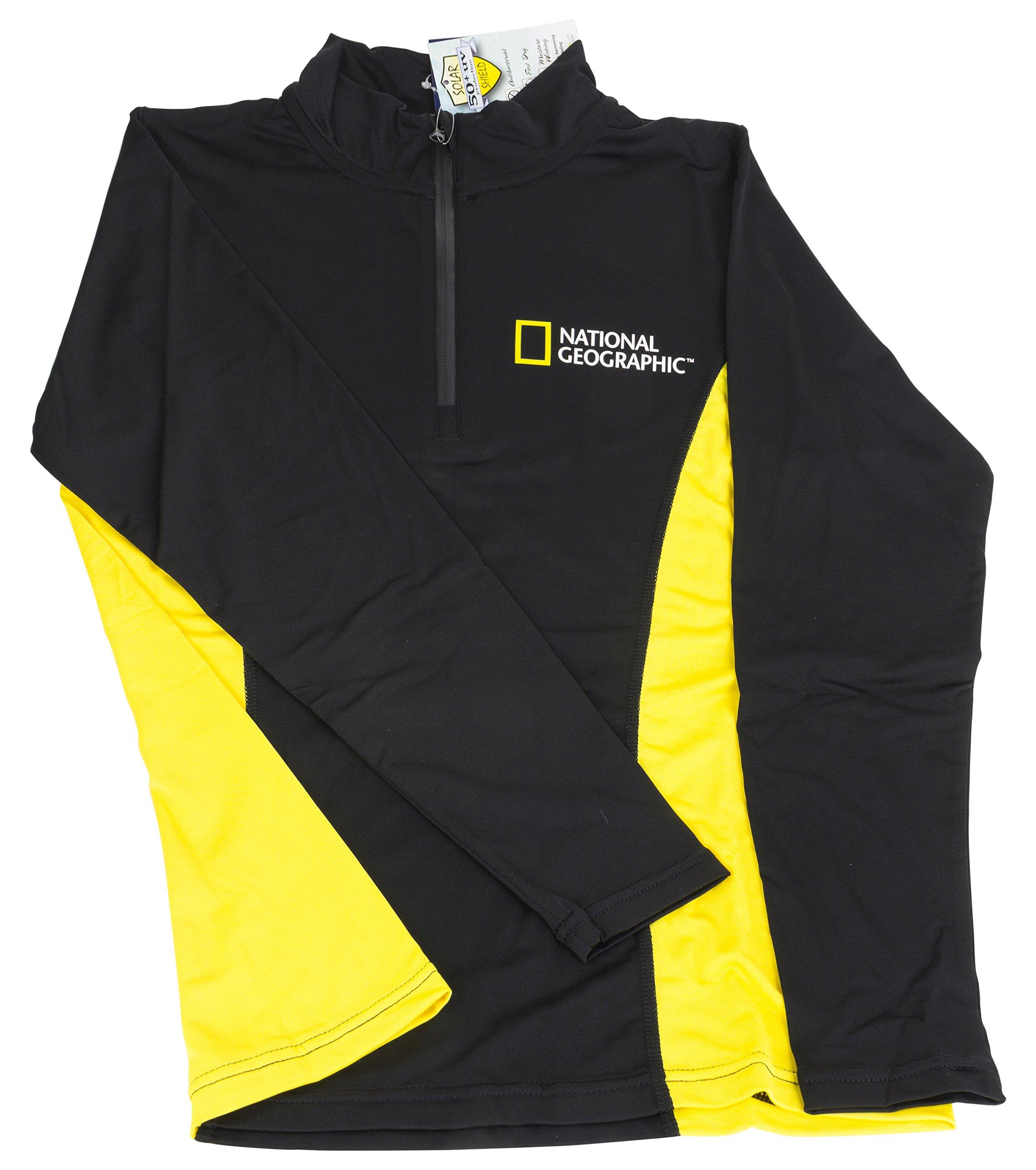 National Geographic Snorkeler 6252 Long Sleeve Rash Ladies Classic Black/Yellow X-Large, Black