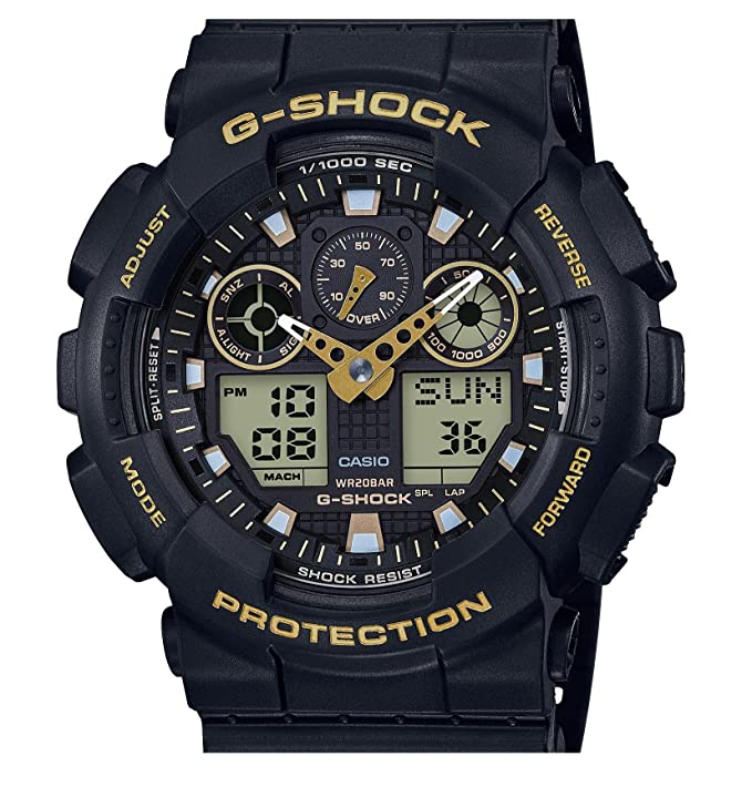 Bar Analog Gelb Casio Digital 100gbx Schwarz20 Herrenarmbanduhr Ga Shock G 1a9er Rj53A4L