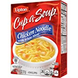 Lipton Cup-A-Soup Instant Soup Mix, Chicken Noodle with White Meat 1.8 oz, Pack of 12