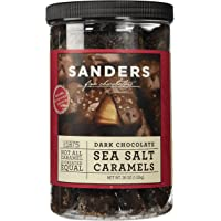 Sanders Dark Chocolate Sea Salt Caramels - 36 ounces (2.25 pounds) - PACK OF 2