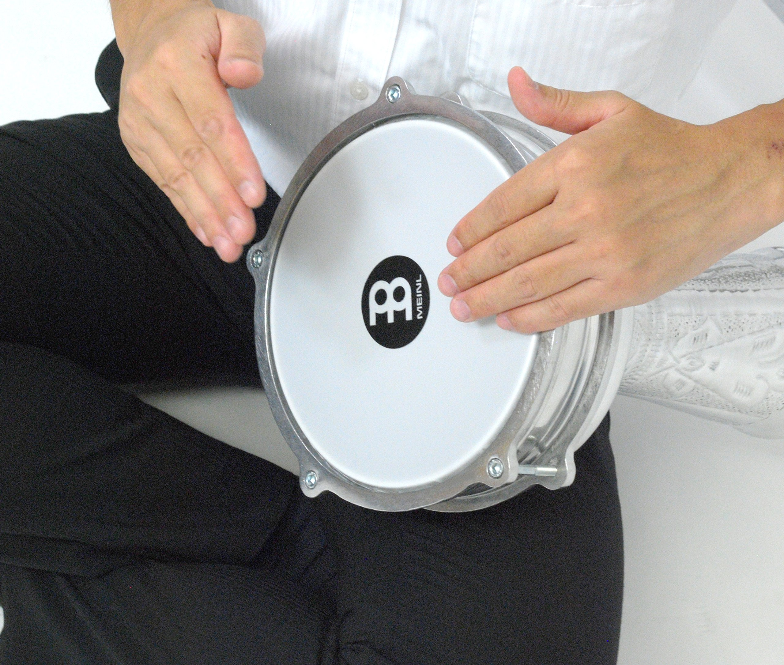 Meinl Percussion Darbuka with Hand Hammered Aluminum Shell-Made in Turkey-8'' Tunable Synthetic Head, 2-Year Warranty (HE-114) by Meinl Percussion (Image #3)