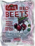 """Gefen """"Red Beets"""" Whole, Peeled, Cooked, Ready to Eat, Vacuum Packed (3 x 17.6oz Bags)"""