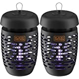 BLACK+DECKER Bug Zapper Electric Lantern with Insect Tray, Cleaning Brush, Light Bulb & Waterproof Design for Indoor…