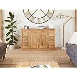 baumhaus mobel oak six drawer sideboard
