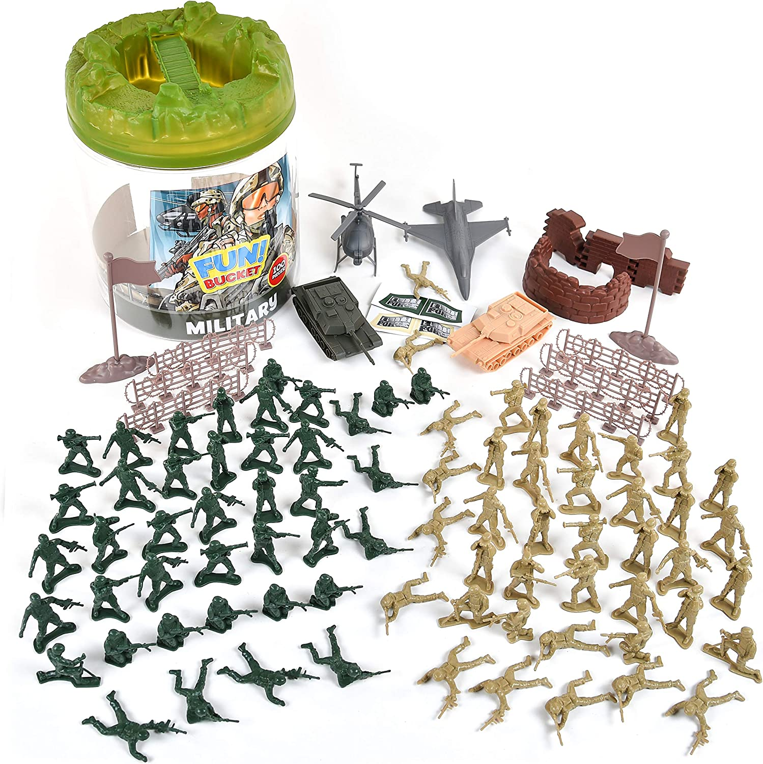 Party Favors for Boys 100 Pc Army Dinosaur Multi