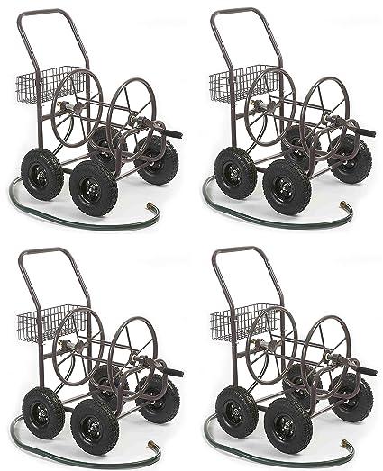 Liberty Garden Products 871 1 Residential Grade 4 Wheel Garden Hose Reel  Cart,