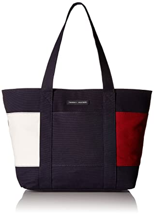 8987014c8a1c Amazon.com: Tommy Hilfiger Tote Bag for Women Flag Canvas, tommy navy:  Clothing