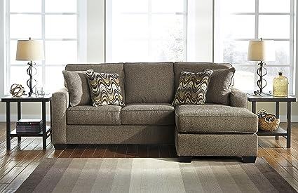 Tanacra Contemporary Fabric Tweed Color Sofa Chaise