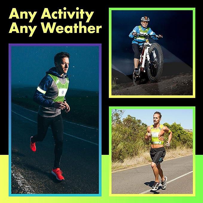 Chaleco reflectante para Unisex con bolsillo 2 Bandas Reflectantes De Seguridad Libre 3 m, amarillo: Amazon.es: Deportes y aire libre
