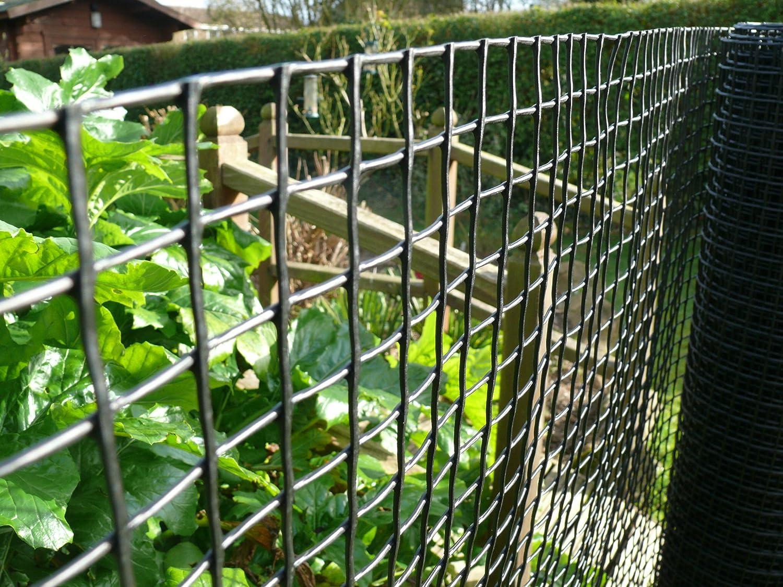 Green plastic garden fence mesh garden ftempo for Village pediatrics garden city