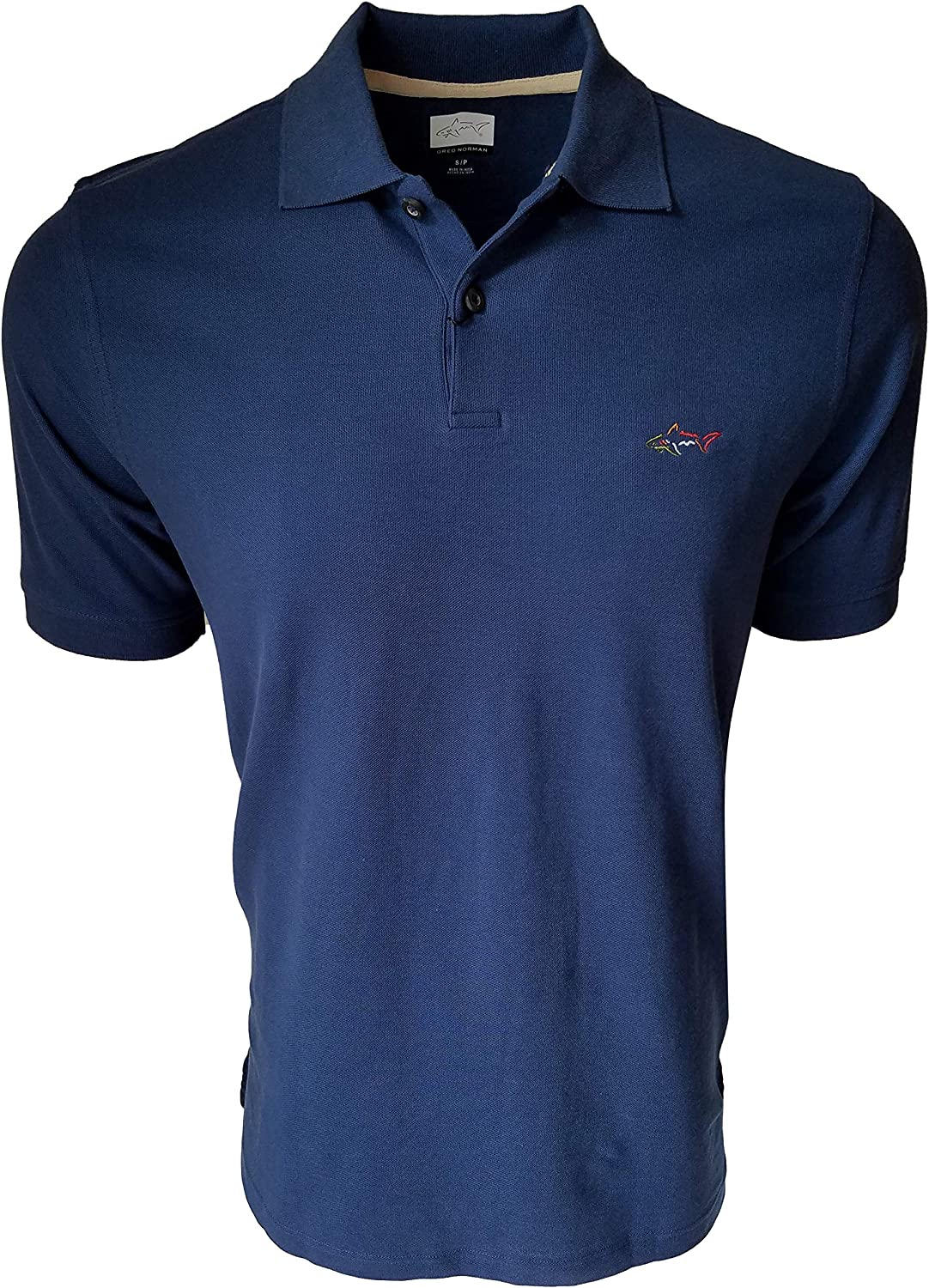 Greg Norman Mens Cotton Polo Shirt (X-Large, Navy)