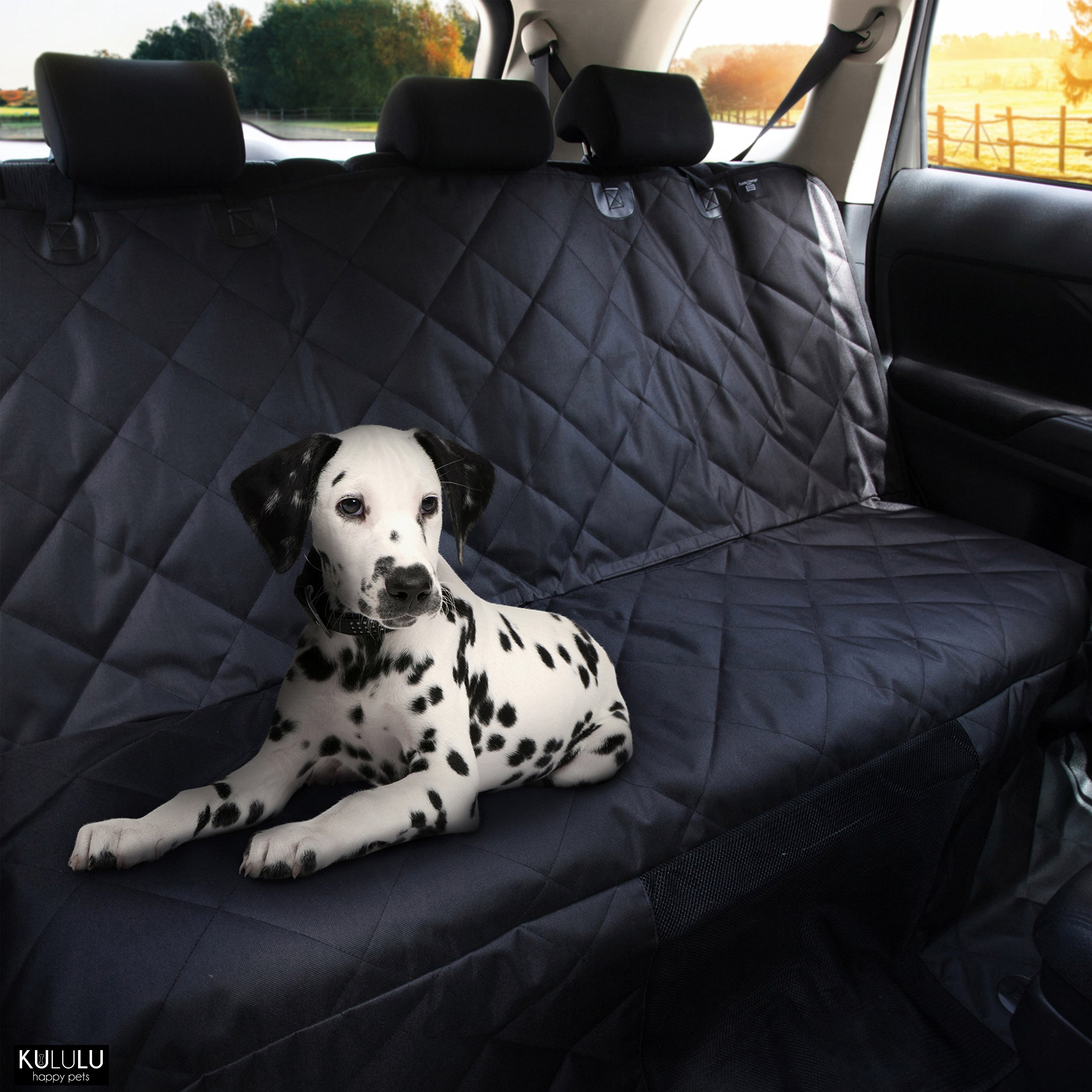 PREMIUM XL Dog Car Seat Cover Hammock Style And Cargo Liner For Cars, Trucks And Suv's. The Original Design You Can See Your Pet & Your Pet Sees You with the ClearView Window- Keeps Your Pet Calm. by Kululu (Image #7)