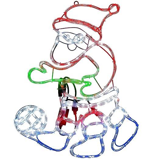 WeRChristmas Animated Santa Play – Balón de fútbol con cuerda de ...