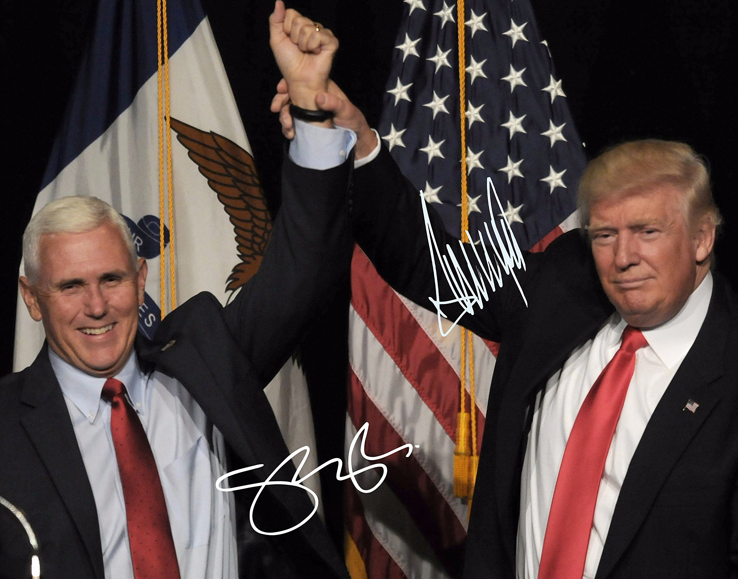 Donald Trump and Mike Pence Autographed Preprint #4