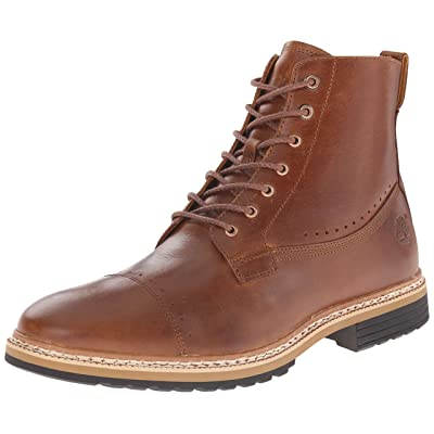 Timberland Men's West Haven 6 Inch Side-Zip Boot, Tan Full Grain, 10 M US | Motorcycle & Combat