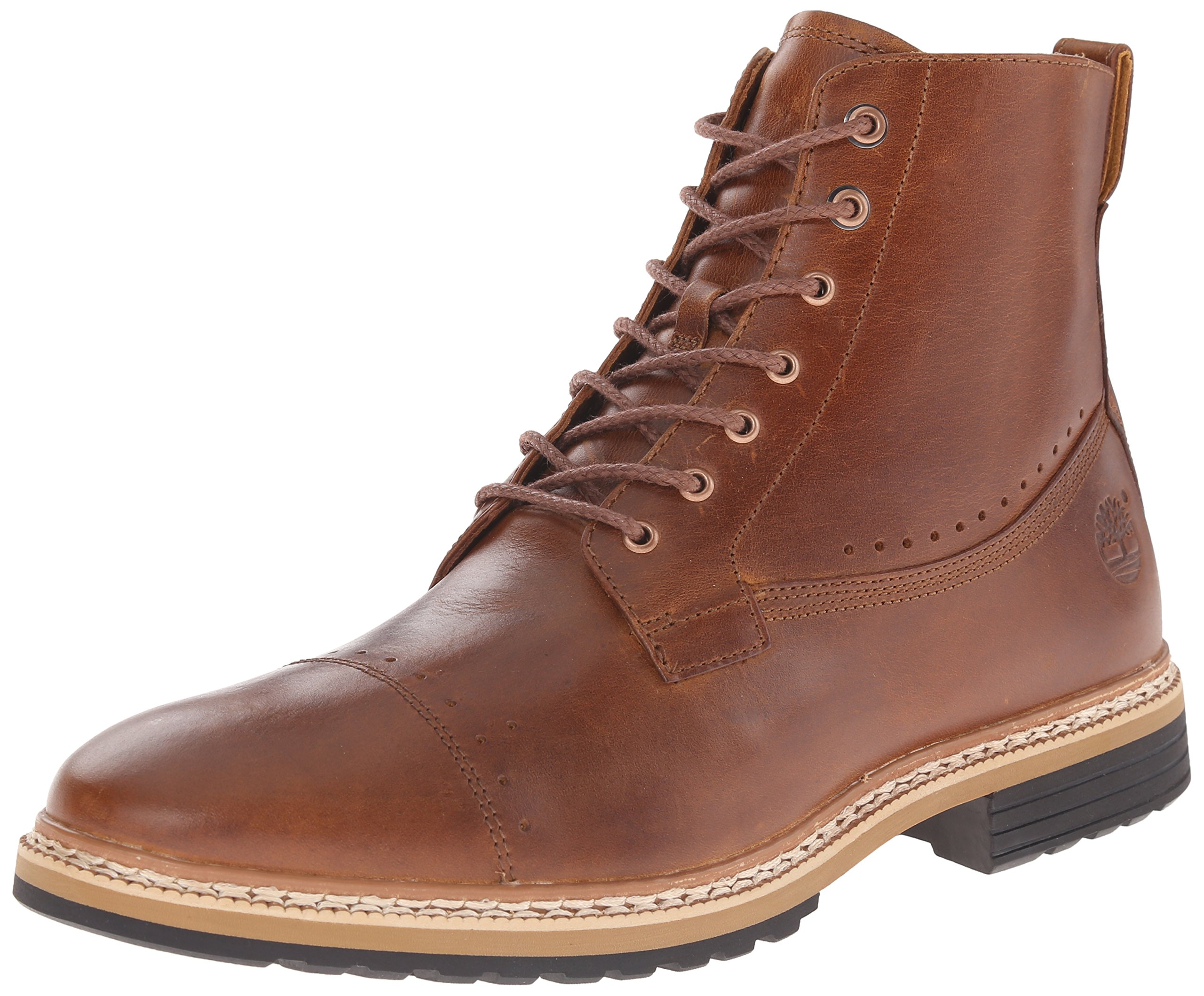 Timberland Men's West Haven 6 Inch Side-Zip Boot, Tan Full Grain, 11.5 M US by Timberland
