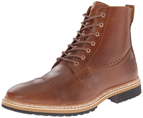 Timberland Men's West Haven 6 Inch Side-Zip Boot, Tan Full Grain, 11 M US best men's dress boots