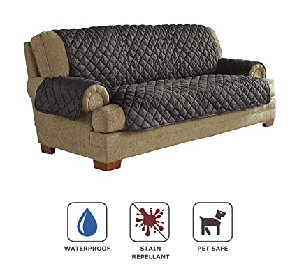 Awesome Serta Ultra Suede Waterproof Furniture Sofa Protector, Graphite