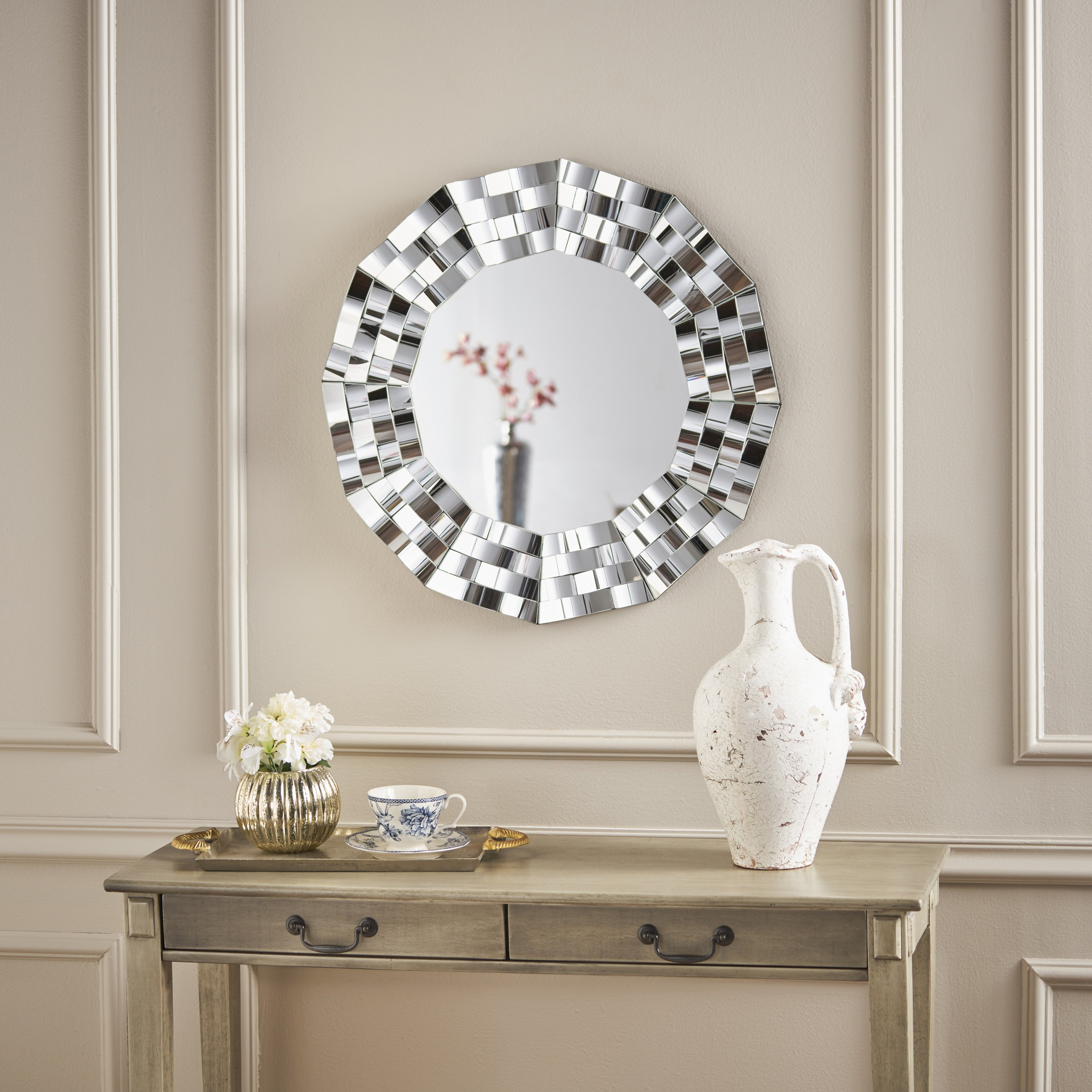 Christopher Knight Home 302084 Dalton Wall Mirror, Clear