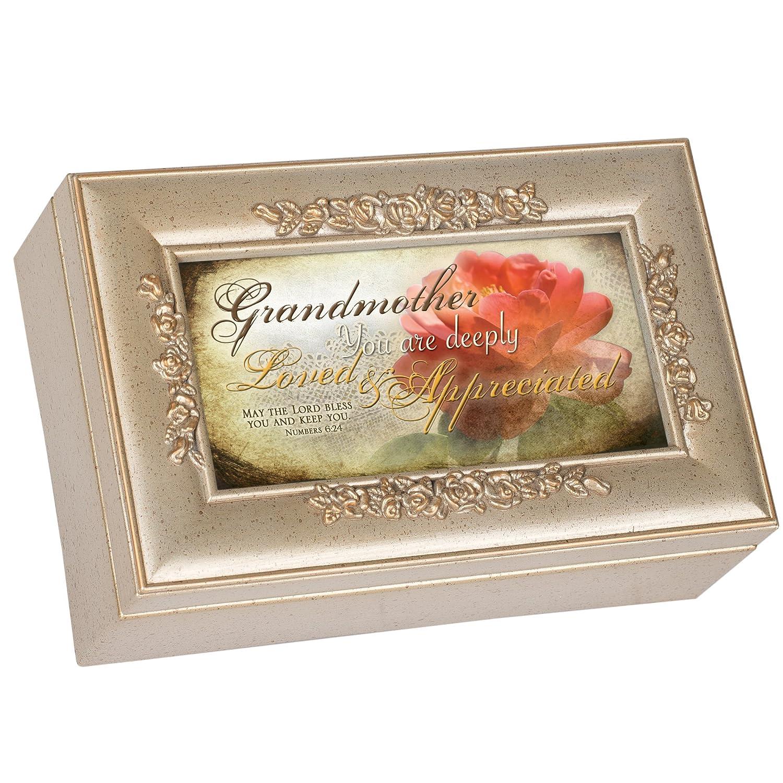 正規代理店 Cottage Garden Grandmother Champagne Box Silver Petite Garden Rose Music Great Box/ Jewelry Box Plays How Great Thou Art by Cottage Garden [並行輸入品] B00BRX624C, wel-senseショップ:3566c352 --- arcego.dominiotemporario.com