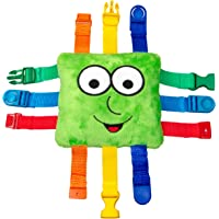 Buckle Toy - Buster Square - Sensory Activity Toy - Develop Motor Skills and Problem Solving - Easy Travel Toy