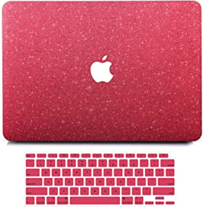 B BELK MacBook Air 13 inch Case 2020 2019 2018 Release A2337 M1 A2179 A1932 with Retina, Matte Glitter Sparkly Girly PU Leather Hard Shell Cover with Keyboard Cover, Mac Air 13 2020 Touch ID