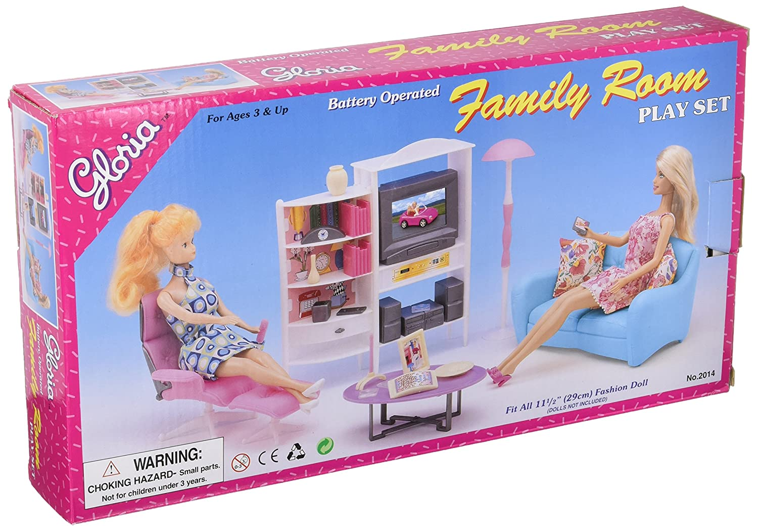 Super Gloria Doll House Furniture Family Room Tv Couch Ottoman Beatyapartments Chair Design Images Beatyapartmentscom