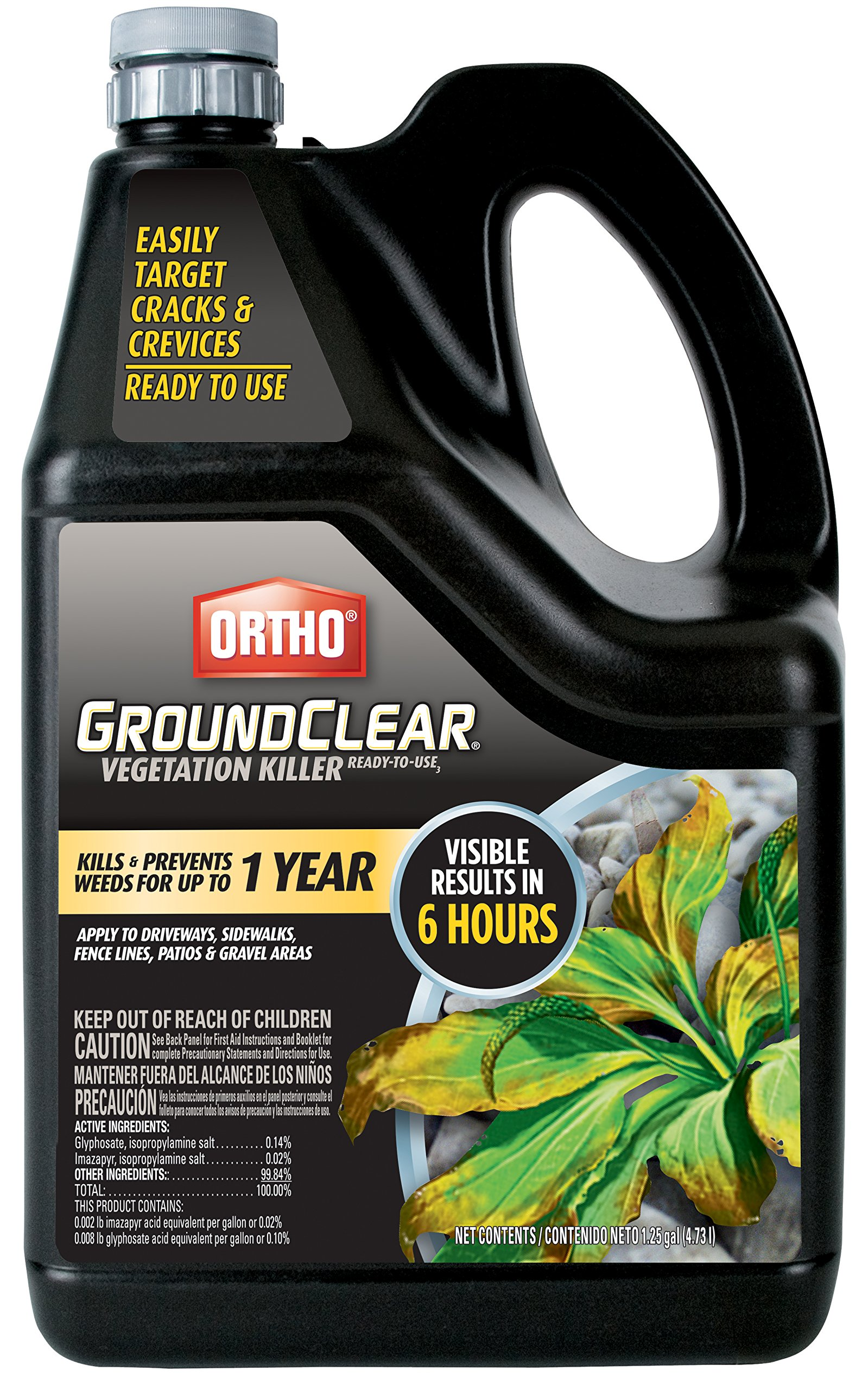 Ortho 0436604 Ground Clear Vegetation Killer Ready-to-Use Sprinkler Cap, 1.25 Gallon by Ortho