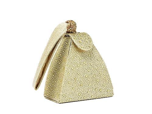 REDFOX - Cartera de mano de Otra Piel para mujer S, color Dorado, talla S: Amazon.es: Zapatos y complementos
